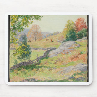Hillside Pasture in September - Willard Metcalf Mouse Pad