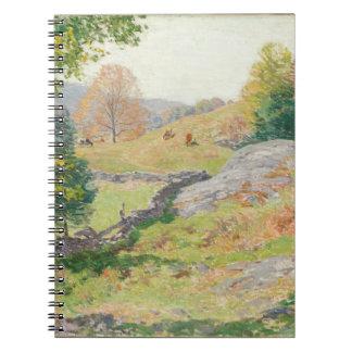 Hillside Pasture in September - Willard Metcalf Notebooks