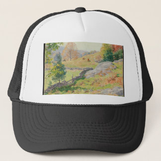 Hillside Pasture in September - Willard Metcalf Trucker Hat