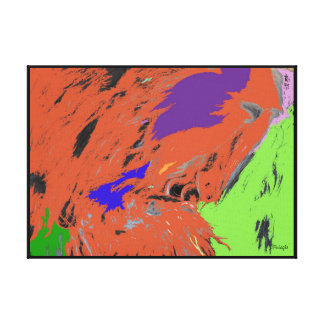 Hillside Pop Abstract Expression Canvas Stretched Canvas Prints