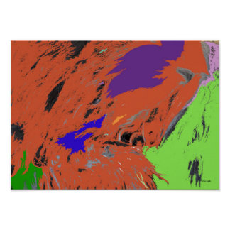 Hillside Pop Abstract Expression Poster