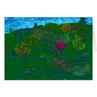 Hillside Retreat Greeting Card