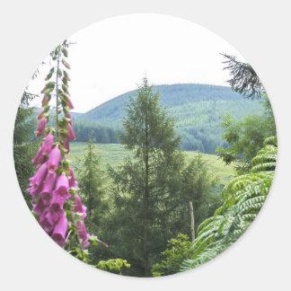 Hillside Round Sticker