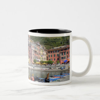 Hillside town of Vernazza, Cinque Terre, Liguria Two-Tone Coffee Mug