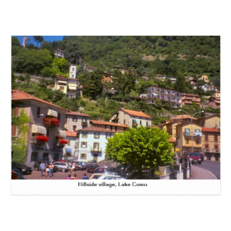 Hillside village, Lake Como Postcard