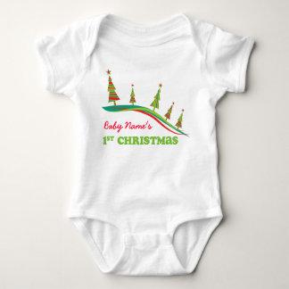 Hillside Xmas Trees Personalized 1st Christmas Tee