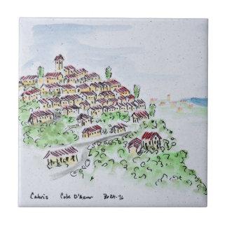 Hilltop village of Cabris | Provence, France Tile