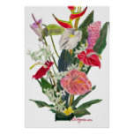Hilo Flowers Watercolor Print and Poster