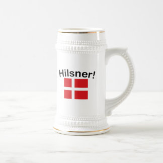 Hilsner! (Greetings!) Beer Stein