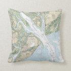 Hilton Head Island/Beaufort Nautical Chart Pillow