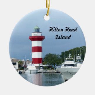 Hilton Head  Lighthouse Ceramic Ornament