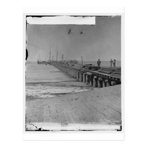 Hilton Head, S.C. Dock built by Federal troops Postcards