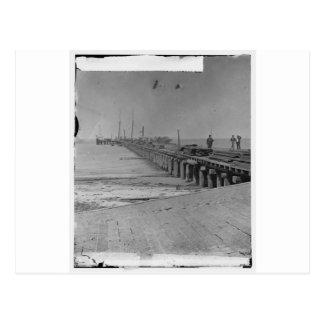 Hilton Head, S.C. Dock built by Federal troops Postcard