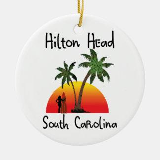 Hilton Head South Carolina Ceramic Ornament