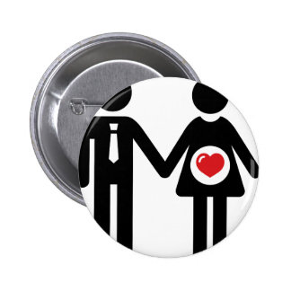 Him and Her Pregnant 2 Inch Round Button