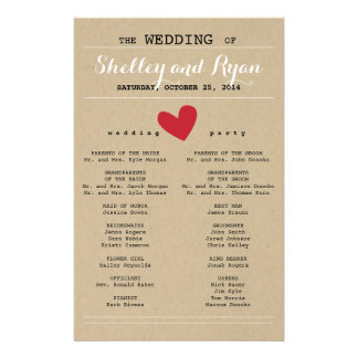 Him and Her Wedding Program Full Color Flyer