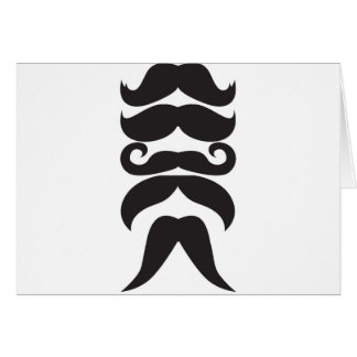 Him Moustache Greeting Card