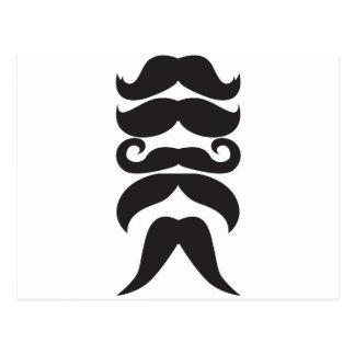 Him Moustache Postcard
