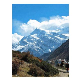 Himalaya Mount Everest India Nepal Travel Summer Letterhead