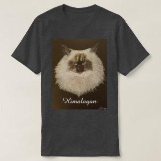 Himalayan Cat Design T-Shirt (Charcoal Grey)
