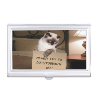 Himalayan Cat in Box Business Card Holder