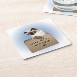 Himalayan Cat Square Paper Coaster