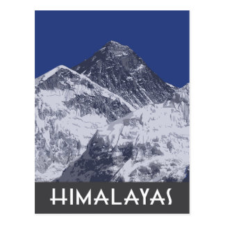 Himalayas artistic photo illustration postcard