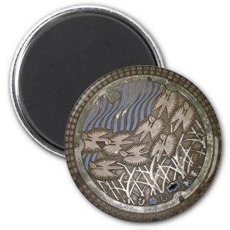 Himeji Manhole Cover Magnet