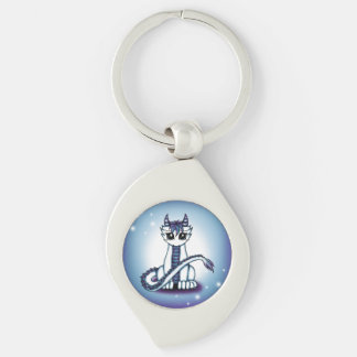 Himmelsdrache Silver-Colored Swirl Keychain