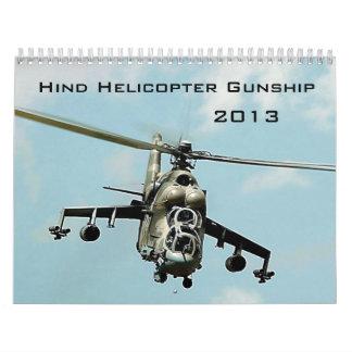Hind Gunship Calendar