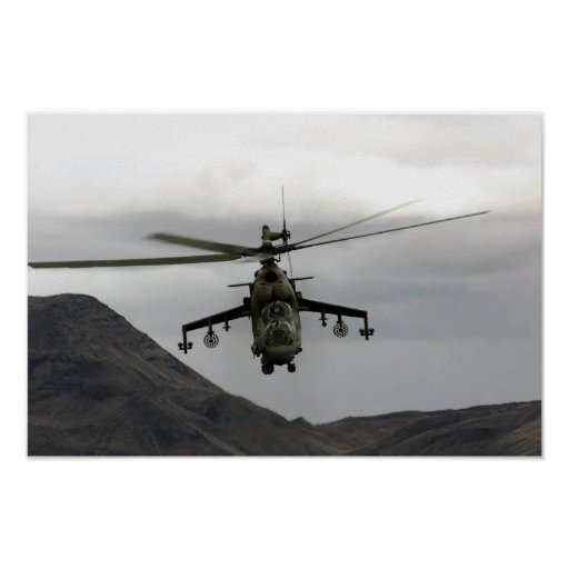 Hind Helicopter Poster