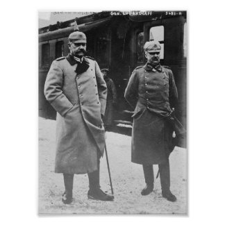 Hindenburg and Ludendorff Poster