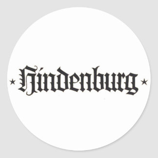 Hindenburg Sticker