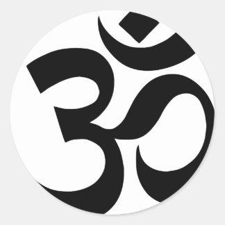 hindu3 classic round sticker