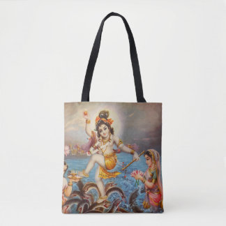 Hindu all over printed Tote