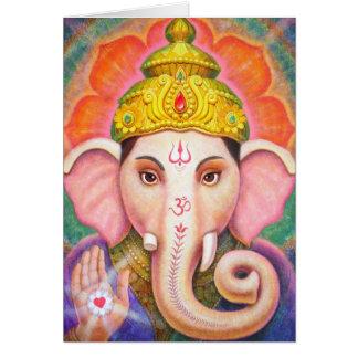 Hindu Art Ganesha positive spiritual energy card