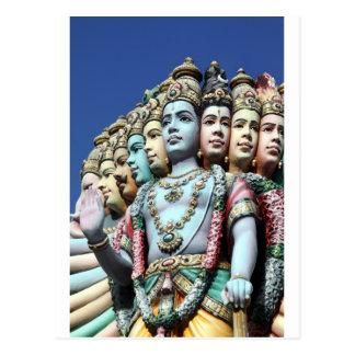Hindu deities Sri Srinivasa Perumal Temple Postcard