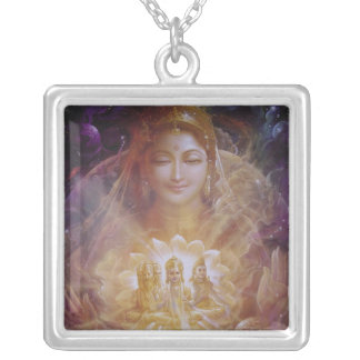 Hindu Divi Trinity Beautiful Silver Plated Necklace