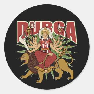 Hindu Durga Round Sticker