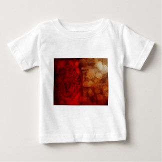 Hindu God Ganesh with Many Arms Red Grunge Baby T-Shirt