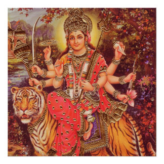 HINDU GODDESS DURGA POSTER
