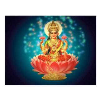 Hindu goddess postcard