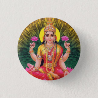 Hindu Goddess Saraswati 1 Inch Round Button