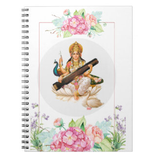 Hindu Goddess Saraswati Journal Notebook