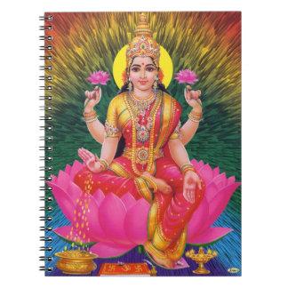 Hindu Goddess Saraswati Spiral Note Book