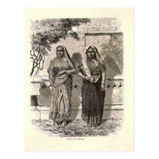 Hindu ladies in Saris, 1890 Postcard
