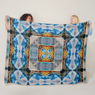 Hindu Mountain Spirit Mandala Fleece Blanket