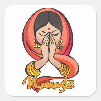 Hindu Namaste Square Sticker