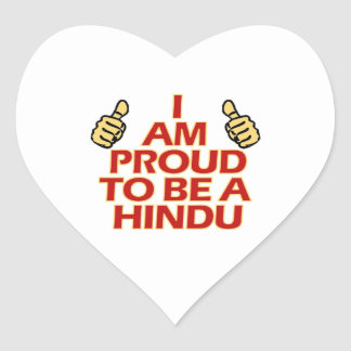 hindu religious designs heart sticker