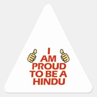 hindu religious designs triangle sticker